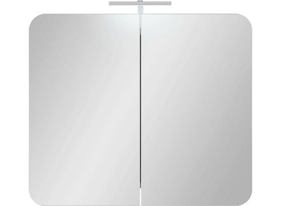 Skříňka Se Zrcadlem Linate - Moderní, kompozitní dřevo (80/69/16cm)