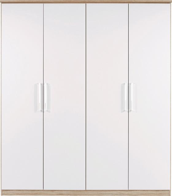 Šatná Skriňa Wien - farby dubu/biela, Konvenčný, kompozitné drevo (181/212/56cm)
