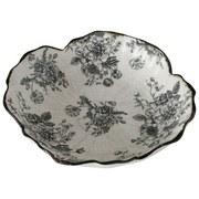 Vogelbad Anny - Schwarz/Weiß, Basics, Keramik (25/8cm)