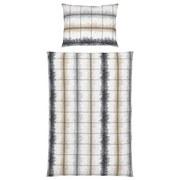 Bettwäsche Aurelia 140/200cm Beige/Grau - Beige, MODERN, Textil - Luca Bessoni