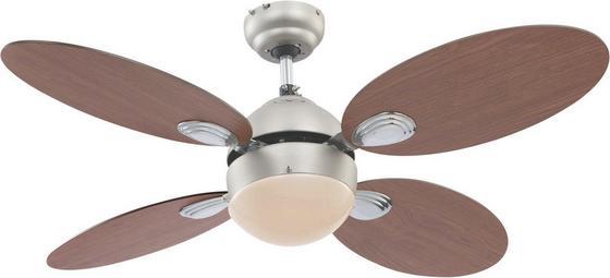 Stropní Ventilátor Wade - Konvenční, kov/dřevo (106,6/37cm)