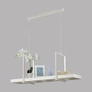 Led Hängeleuchte Calamona H: 110 cm mit Fernbedienung - Weiß, MODERN, Kunststoff/Metall (115/29,5/110cm)