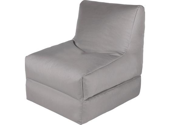 Sitzsack Billy Anthrazit - Silberfarben, MODERN, Textil (80/70/80cm)