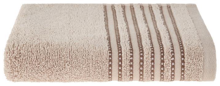 Handtuch in Beige mit hübscher Bordüre