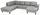 Wohnlandschaft in U-Form Cherno 237x313x167 cm - Wengefarben/Silberfarben, MODERN, Textil (237/313/167cm)