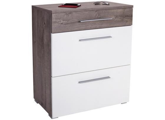 Komoda Monza New - bílá/barvy dubu, Moderní, kompozitní dřevo (80/94/36cm)