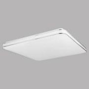 LED-Deckenleuchte Alexa - Weiß, MODERN, Kunststoff/Metall (50/50/8cm)