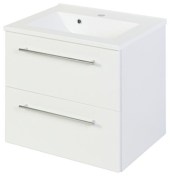 Waschtischkombi Mailand 60 cm Weiß - Weiß, MODERN, Holzwerkstoff/Kunststoff (60/54/47cm)