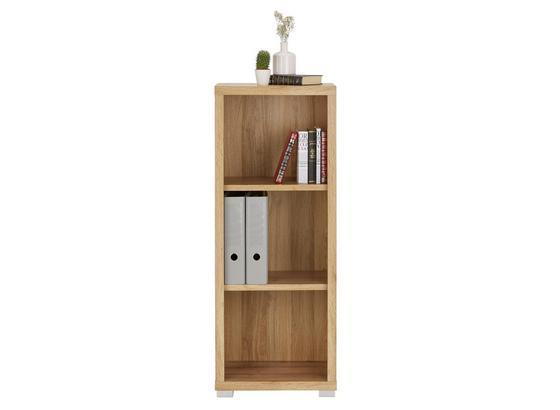 Regál Line4 - bílá/barvy dubu, Moderní, kompozitní dřevo (44/112/36cm)