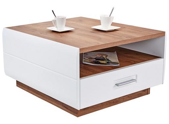 Konferenční Stolek Avensis - bílá/barvy dubu, Moderní, kompozitní dřevo (75/40/75cm) - Luca Bessoni