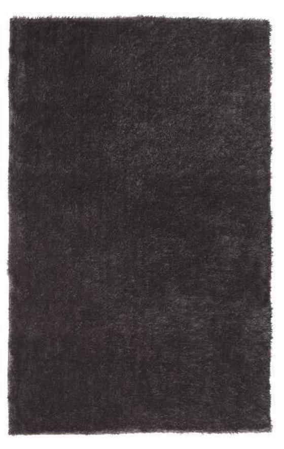 Hochflorteppich Amy - Dunkelgrau, KONVENTIONELL, Textil (120/170cm) - Luca Bessoni