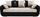 Dreisitzer-sofa Faro - Chromfarben/Beige, KONVENTIONELL, Holz/Textil (225/90/92cm)