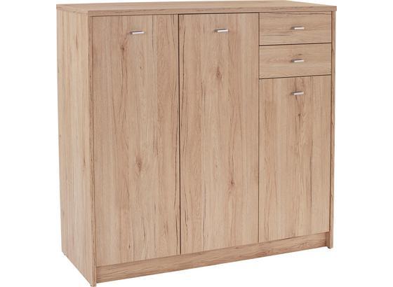 Komoda 4-you Yuk09 - barvy dubu, Moderní, kompozitní dřevo (109,1/111,4/34,6cm)