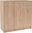 Komoda 4-you Yuk09 - farby dubu, Moderný, drevený materiál (109,1/111,4/34,6cm)
