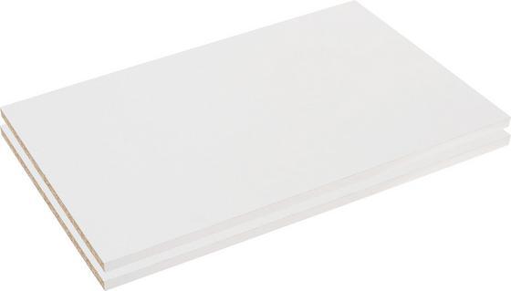 Vkládací Police Florenz - bílá, Konvenční, dřevěný materiál (43,4/1,8/49,5cm)
