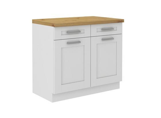 Küchenunterschrank Luisa        Us100 - Weiß, KONVENTIONELL, Holzwerkstoff (100/86/60cm)