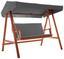 Hojdačka Acacia - tmavosivá/farby agátu, Moderný, drevo/textil (196/174/124cm) - Modern Living