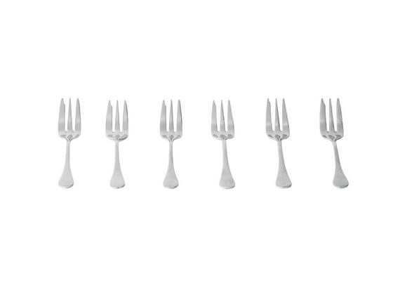 Kuchengabeln Angela - Edelstahlfarben, KONVENTIONELL, Metall (14,2cm) - Luca Bessoni