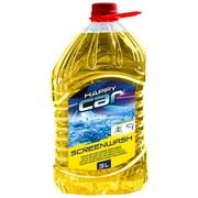 Scheibenreiniger Happy Car Sommer - Gelb, Basics, Kunststoff (14,2/28,8/12cm)