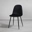 Stolička Lio - čierna, Moderný, kov/drevo (43/86/55cm) - Modern Living