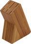 Késtartó Blokk Jeronimo - Natúr/Nemesacél, konvencionális, Műanyag/Fém (8/30/16,5cm) - James Wood