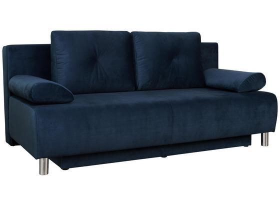 Pohovka Boxspring Ines - modrá, Moderní, dřevo/textil (203/96/102cm) - Luca Bessoni