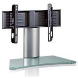 TV-Rack Windoxa Mini B: 70 cm - Klar/Silberfarben, KONVENTIONELL, Glas/Metall (70/52/30cm) - Livetastic