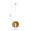 Závěsné Svítidlo Greta - bílá, Lifestyle, dřevo (46/120cm) - Modern Living