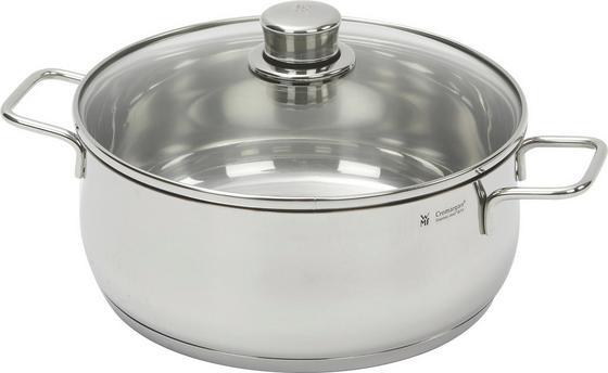 Bratentopf Diadem - Silberfarben, KONVENTIONELL, Glas/Metall (31/26.5/13cm) - WMF