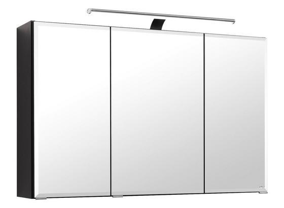 Spiegelschrank Belluno B:100 cm Graphit - Graphitfarben, Basics, Glas/Holzwerkstoff (100/64/20cm)