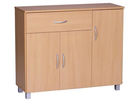 Sideboard Jarry B: ca. 90 cm - Buchefarben/Grau, KONVENTIONELL, Holzwerkstoff (90/75/30cm) - Livetastic