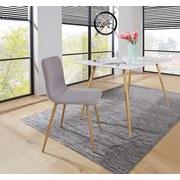 Stuhl Scargill Anthrazit - Naturfarben/Grau, MODERN, Textil/Metall (44/87/54cm)