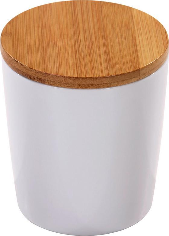 Vorratsdose Julitta 0,75 Liter - Naturfarben/Weiß, KONVENTIONELL, Keramik/Holz (11,3/13cm) - James Wood
