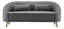 Pohovka Jannike - tmavě šedá, Moderní, dřevo/textil (207/84/80cm) - Modern Living