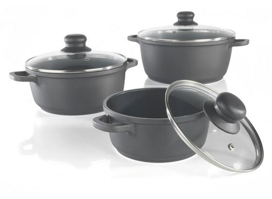 Sada Hrncov Mia -top- - čierna/farby ušľachtilej ocele, Romantický / Vidiecky, kov/plast - Mömax modern living