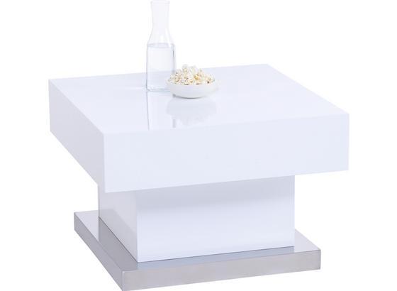 Konferenčný Stolík Lina -based- - biela, Moderný, kov/kompozitné drevo (60/40/60cm) - Based