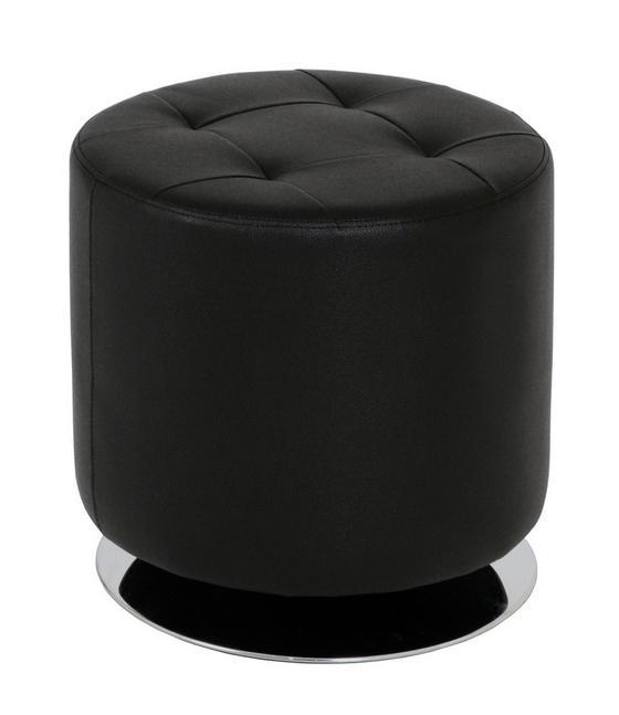 Taburet Circle - čierna, Moderný, kov (40cm)