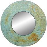 Wandspiegel Mosaik Ø 56 cm Grün - Grün, MODERN, Glas/Holzwerkstoff (56/10cm)