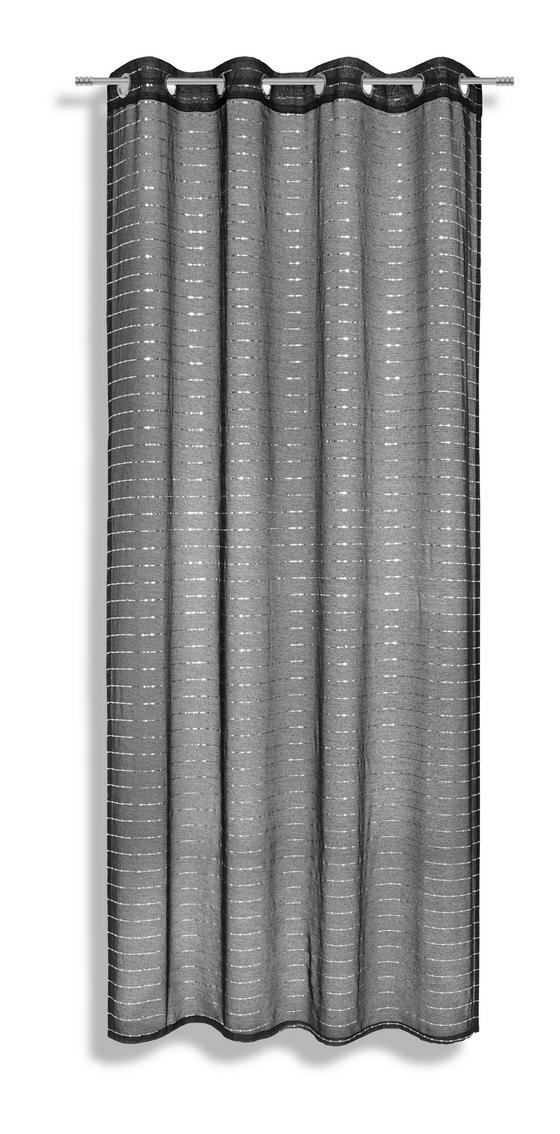 Ösenvorhang Tonia - Schwarz, MODERN, Textil (135/245cm) - Luca Bessoni