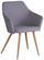 Stuhl Betty Hellgrau - Braun/Grau, MODERN, Textil/Metall (51/86/55cm) - Ombra