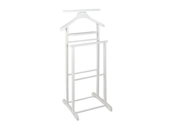 Herrendiener Gent B: 47 cm Weiß - Weiß, Basics, Holz (47/102/36cm)
