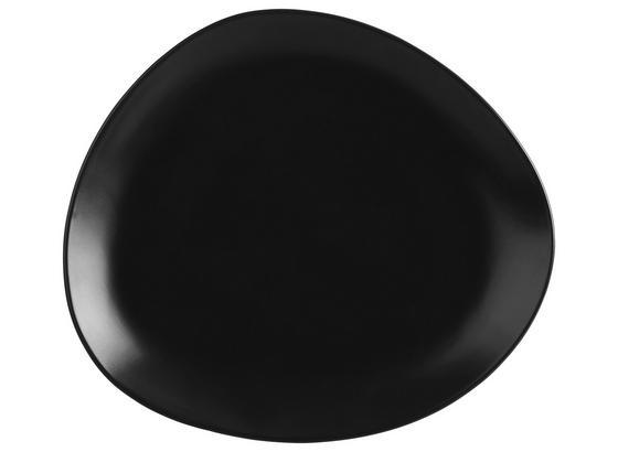 Plytký Tanier Nele - čierna, Moderný, keramika (26,3/23/2,5cm) - Premium Living