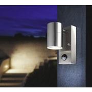 Außenleuchte mit Bewegungsmelder Style 5 Watt - Klar/Edelstahlfarben, MODERN, Glas/Metall (7/11/15cm)
