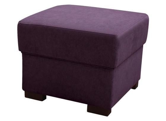 Taburet Chandler - antracitová/fialová, Moderný, textil (51/43/51cm) - Ombra