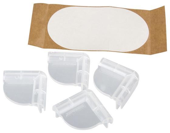 Eckenschutz 4 Stk./Pkg. - Transparent, KONVENTIONELL, Kunststoff (4,2/4,2/2cm) - Fackelmann