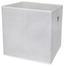 Összecsukható Doboz Cubi - Fehér, modern, Faalapú anyag/Textil (32/32/32cm)