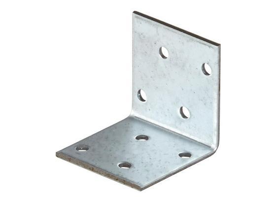 Winkelverbinder B/l/c: ca.  40/40/2 mm - Alufarben, KONVENTIONELL, Metall (4/4cm)