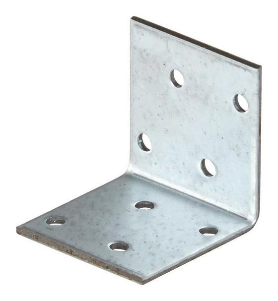 Winkelverbinder B/l/h: ca.  40/40/2 mm - Alufarben, KONVENTIONELL, Metall (4/4cm)