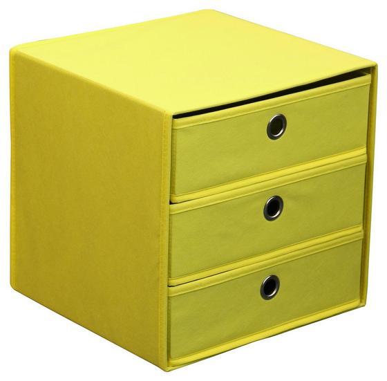 Zásuvkový Box Lisa - žlutá, Moderní, kov/karton (32/32/32cm)