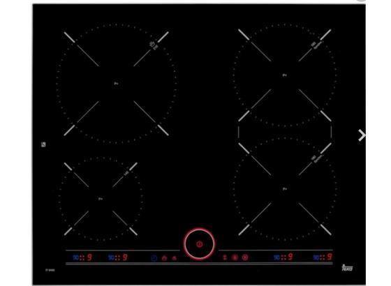 Indukčná Varná Doska It 6450 Iknob - čierna/farby ušľachtilej ocele, Štýlový, kov/sklo (60/5/51,5cm) - Teka